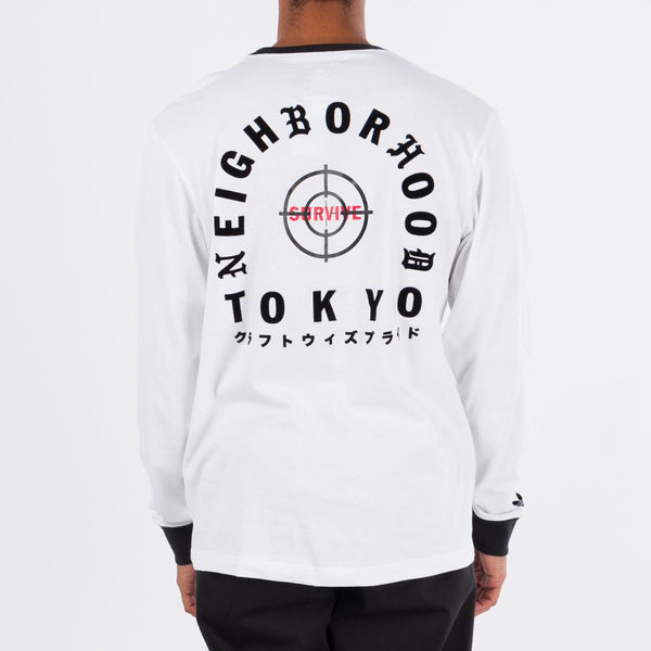 Style code DH2038. adidas Originals by NEIGHBORHOOD Long Sleeve T-shirt / White