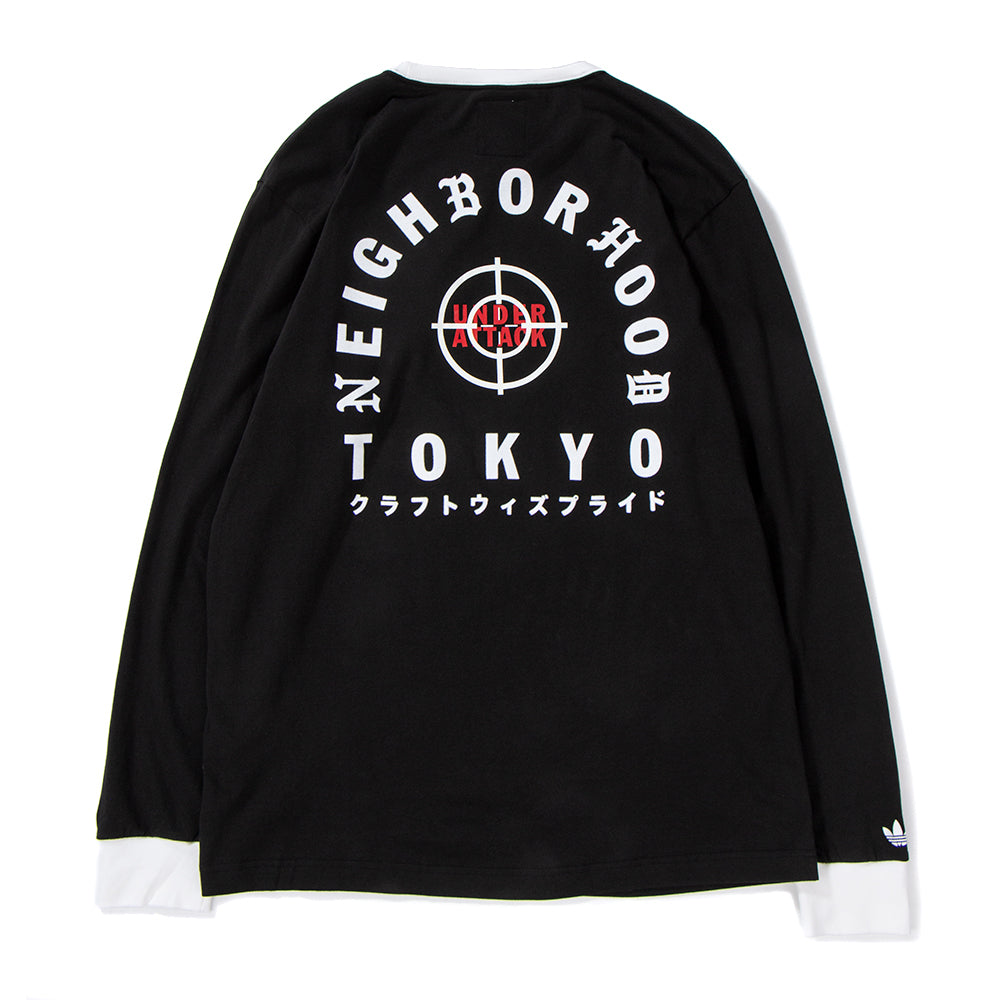 Style code DH2039. adidas by NEIGHBORHOOD Long Sleeve T-shirt / Black