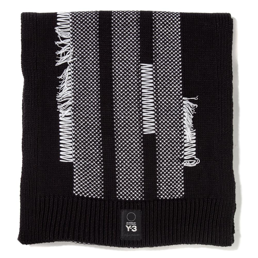 Style code DT0903. Y-3 Knit Scarf / Black