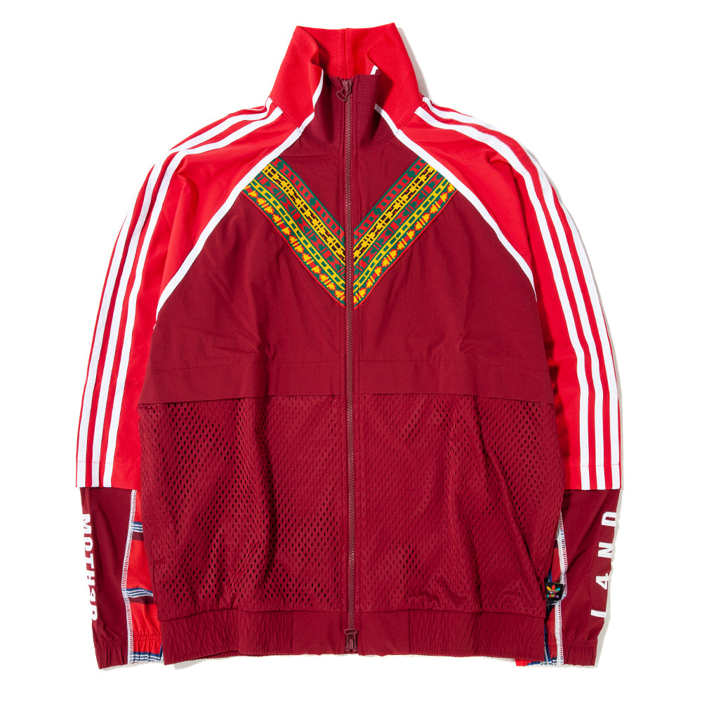 Style code DW9037. adidas Originals by Pharrell Williams SOLARHU Track Top Full Zip / Burgundy