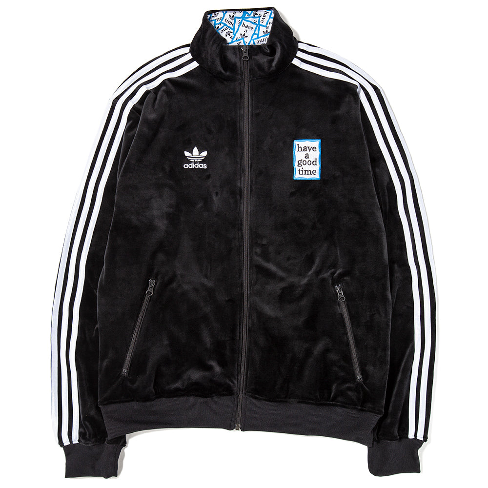8c0a5653281f DZ9233 adidas by Have A Good Time Velour Track Top   Black