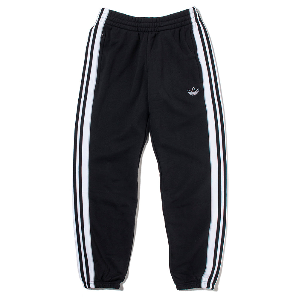 ED6255 adidas 3 Stripe Panel Sweatpants / Black