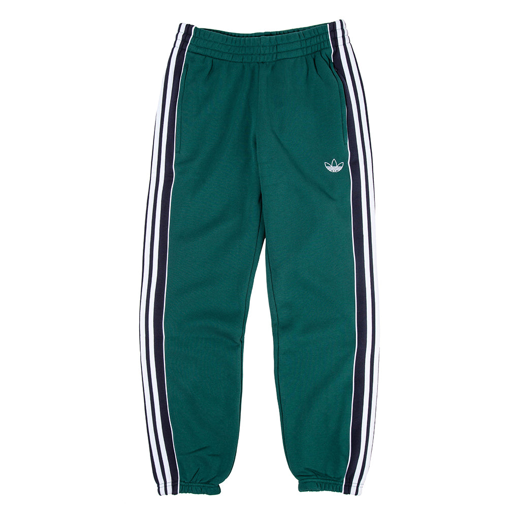 EJ7112 adidas 3 Stripe Panel Sweatpants / Collegiate Green
