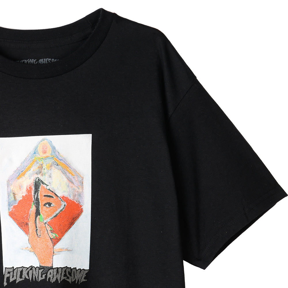 Fucking Awesome Dill Mirror Painting T-shirt / Black