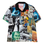 Fucking Awesome Collage 2 Rayon Club Button Up / Black