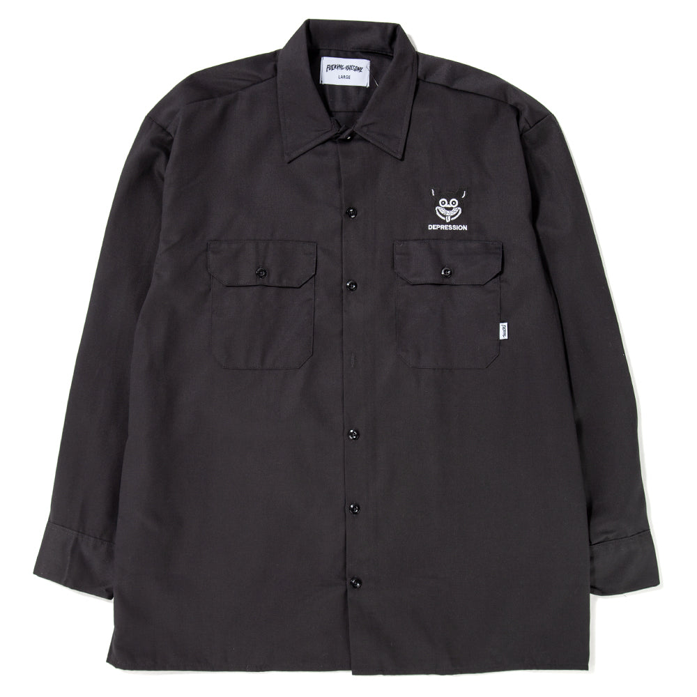 Style code FAFA18CS004BLK. fucking awesome depression western shirt / black
