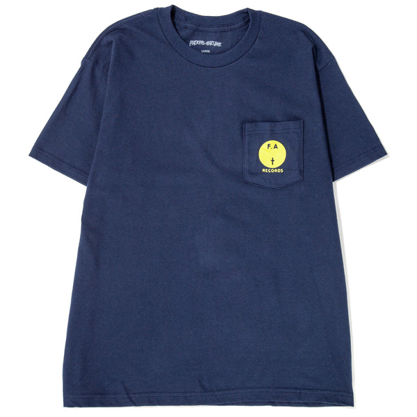 Style code FAFA18TS001NVY. Fucking Awesome FA Records Pocket T-shirt / Navy