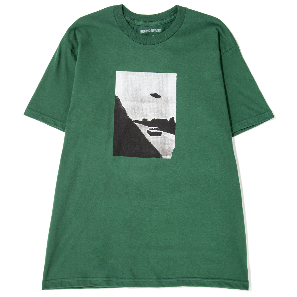 Style code FAFA18TS010DKG. Fucking Awesome UFO T-shirt / Dark Green