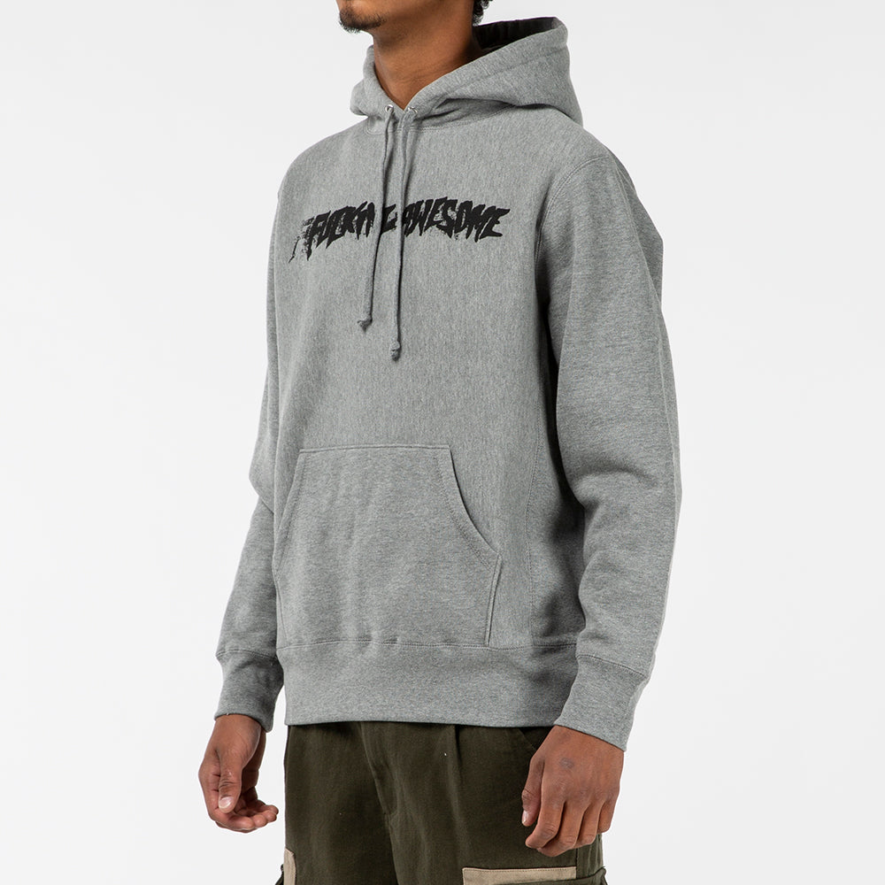 Fucking Awesome Stamp Pullover Hoodie / Grey Heather - Deadstock.ca