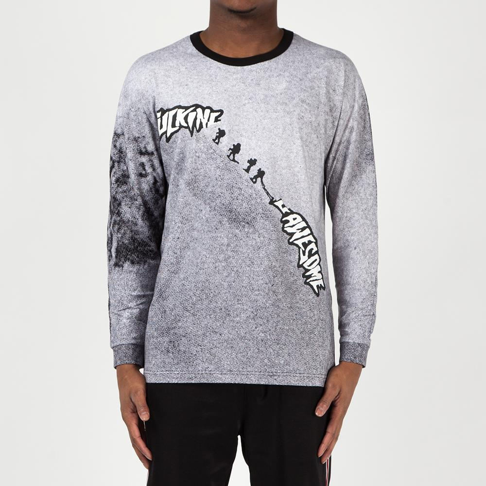 FAHO18CS005BLK Fucking Awesome Snowmen Long Sleeve T-shirt / All Over Print