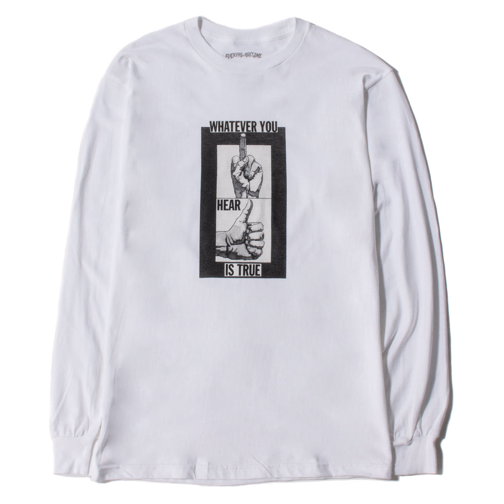 03ef6b168 Fucking Awesome Fingers Up Long Sleeve T-shirt / White – Deadstock.ca
