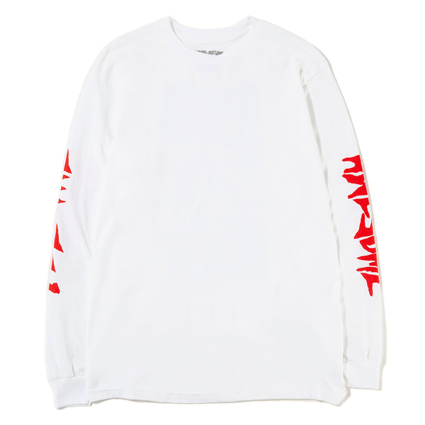 Fucking Awesome Collage Long Sleeve T-shirt / White - Deadstock.ca