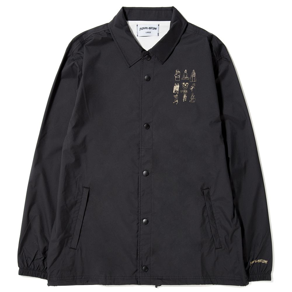 style code FAQ301BLK. FUCKING AWESOME DICTIONARY COACHES JACKET / BLACK