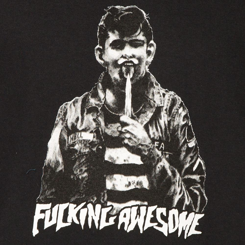 FUCKING AWESOME KNIFE TONGUE T-SHIRT / BLACK