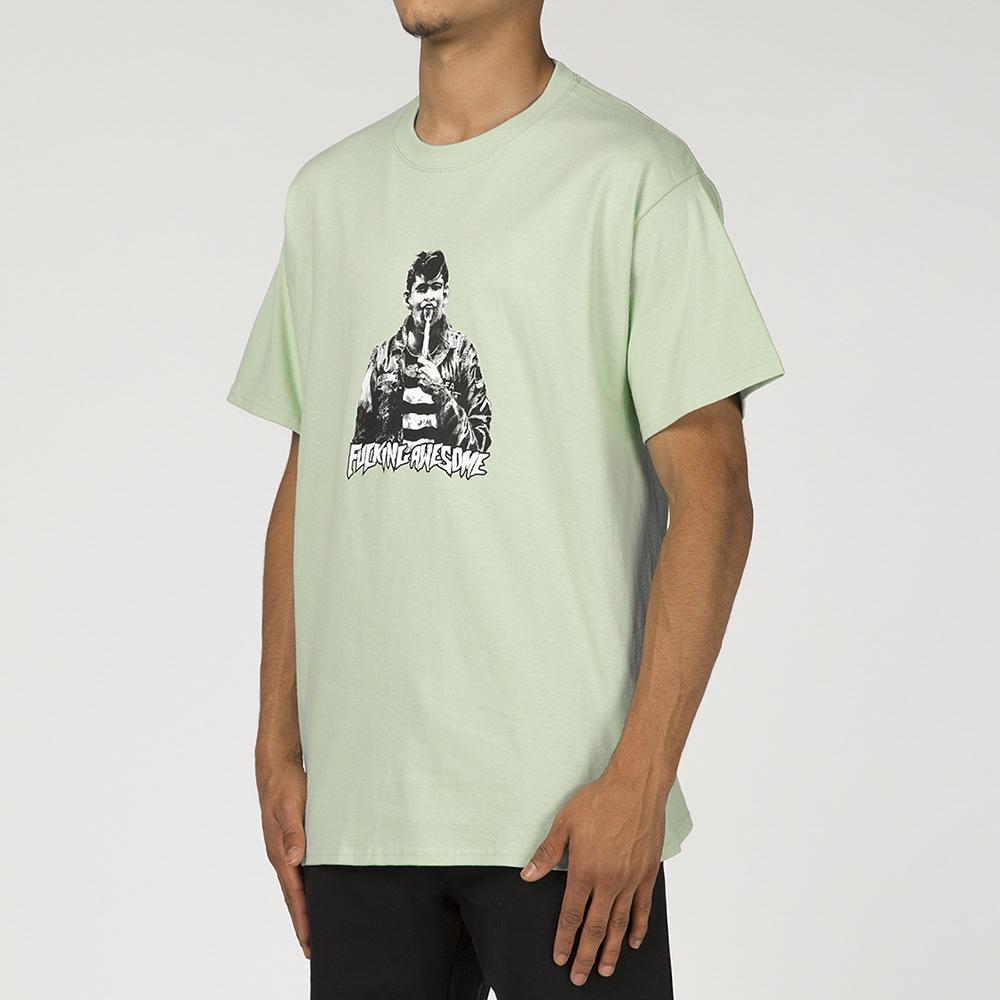 FUCKING AWESOME KNIFE TONGUE T-SHIRT / PISTACHIO