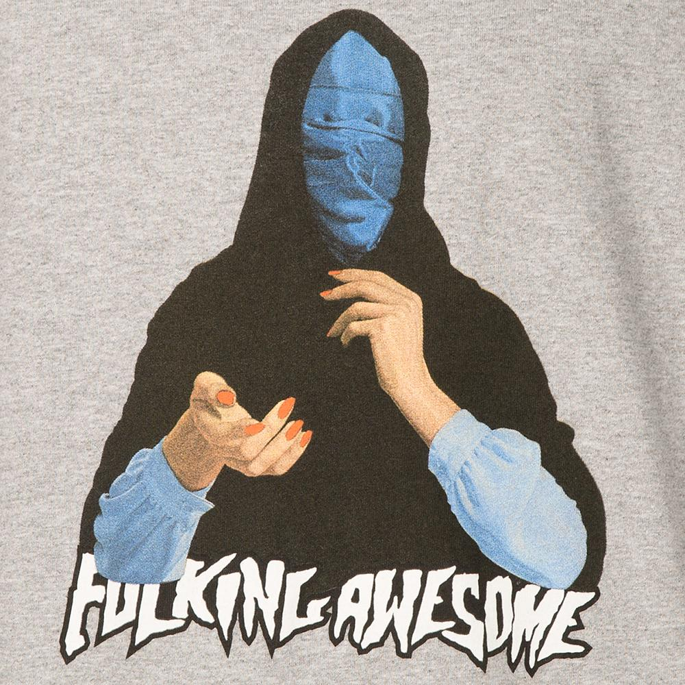 FUCKING AWESOME BLUE VEIL T-SHIRT / MEDIUM GREY