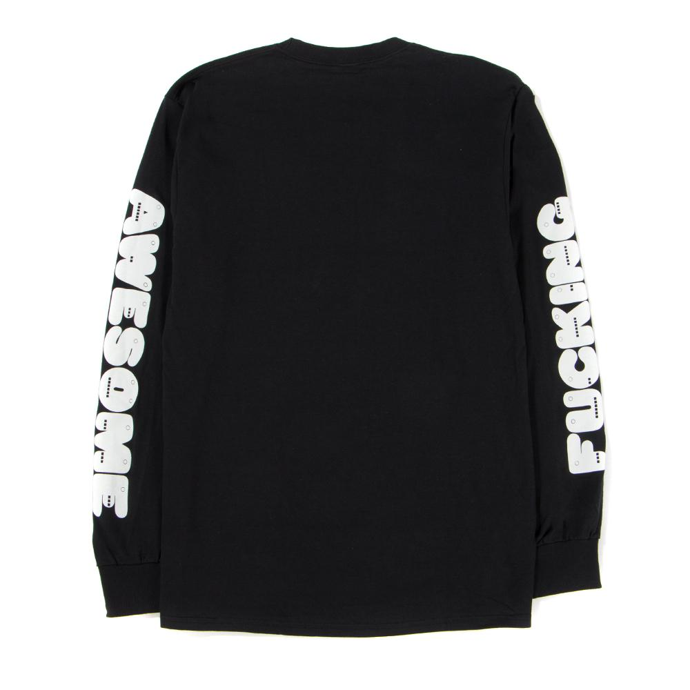 Style code FAQ305BLK. FUCKING AWESOME TEETH LONG SLEEVE T-SHIRT / BLACK