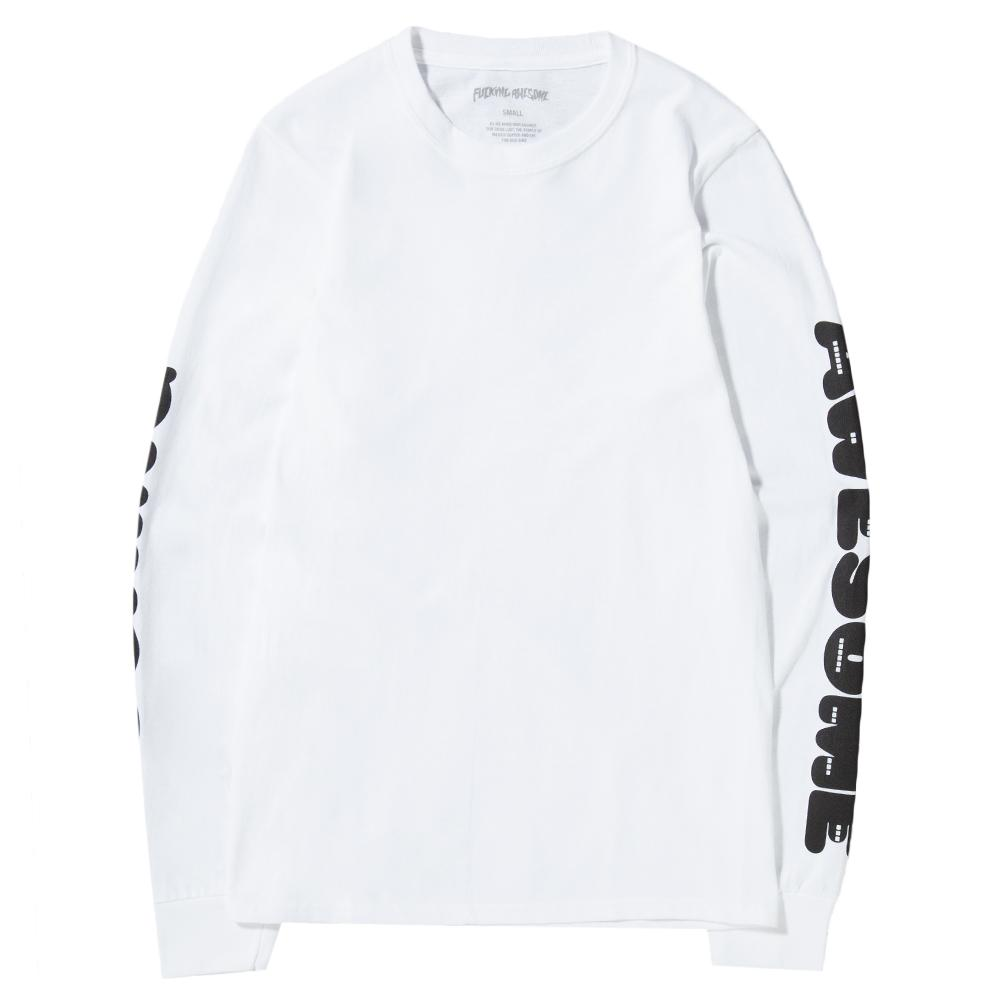 style code FAQ305WHT. FUCKING AWESOME TEETH LONG SLEEVE T-SHIRT / WHITE