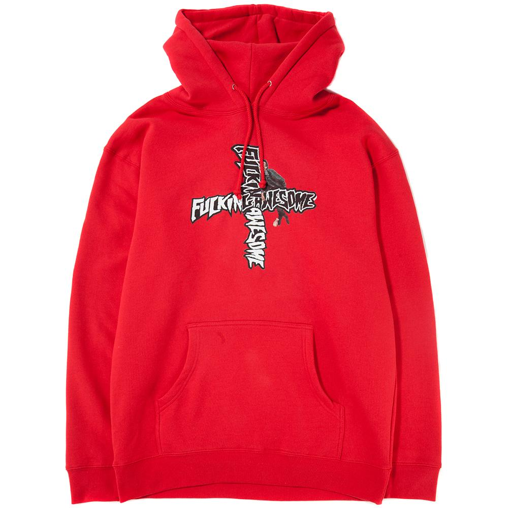 Style code FASP18HD009RED. FUCKING AWESOME HOBO PULLOVER HOODIE / RED