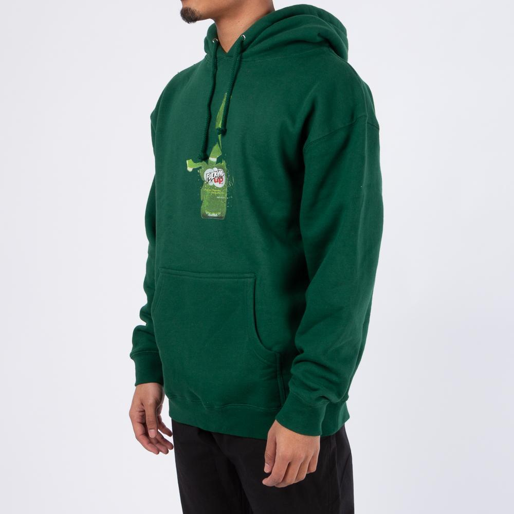 Fucking Awesome Fucked Up Pullover Hoodie / Dark Green