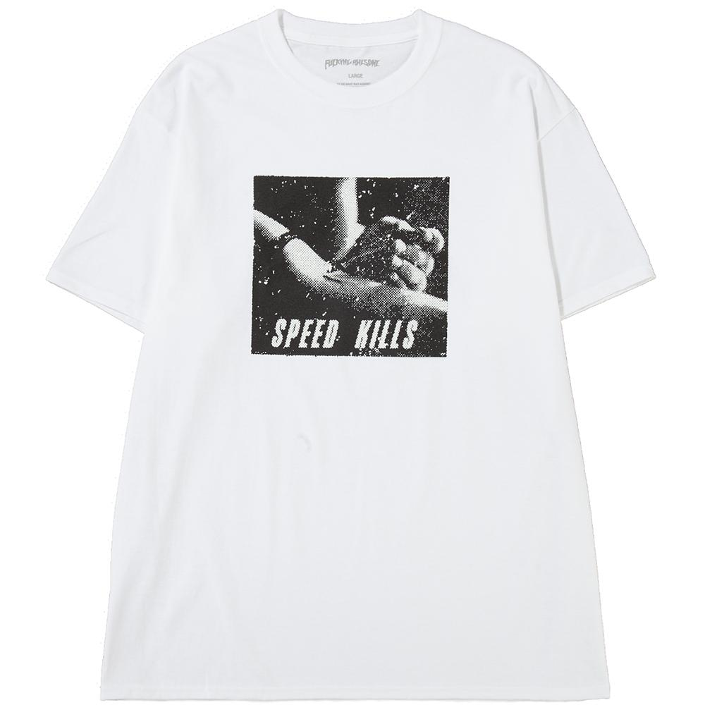 Style code FASP18TS036WHT. FUCKING AWESOME SPEED KILLS T-SHIRT / WHITE