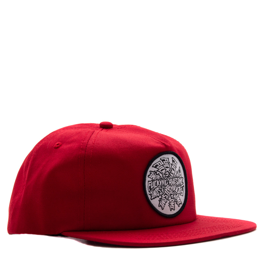 Style code FASU18HT003RED. Fucking Awesome Spiral 5 Panel / Red