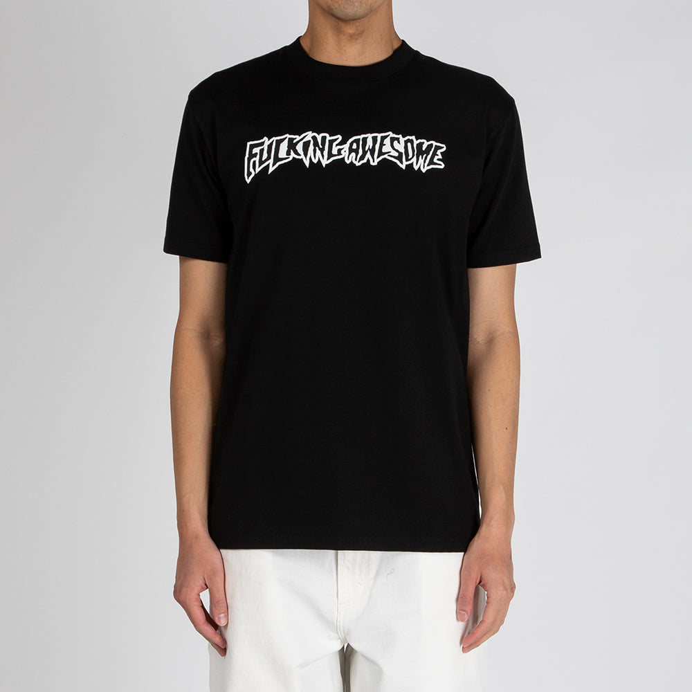 Fucking Awesome Puff Outline Logo T-shirt / Black