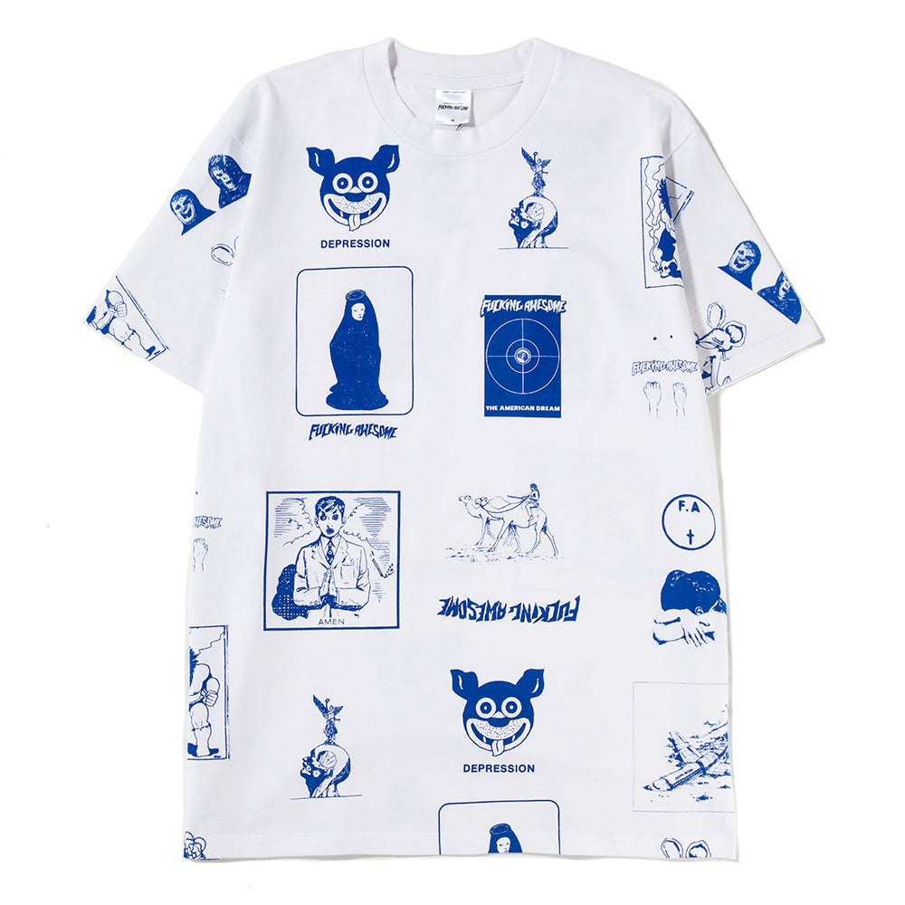 Fucking Awesome Cut Out 2 T-shirt / White