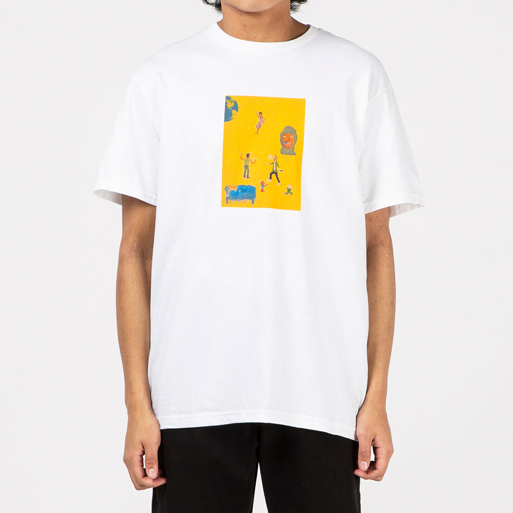 Fucking Awesome World Dill Painting T-shirt / White