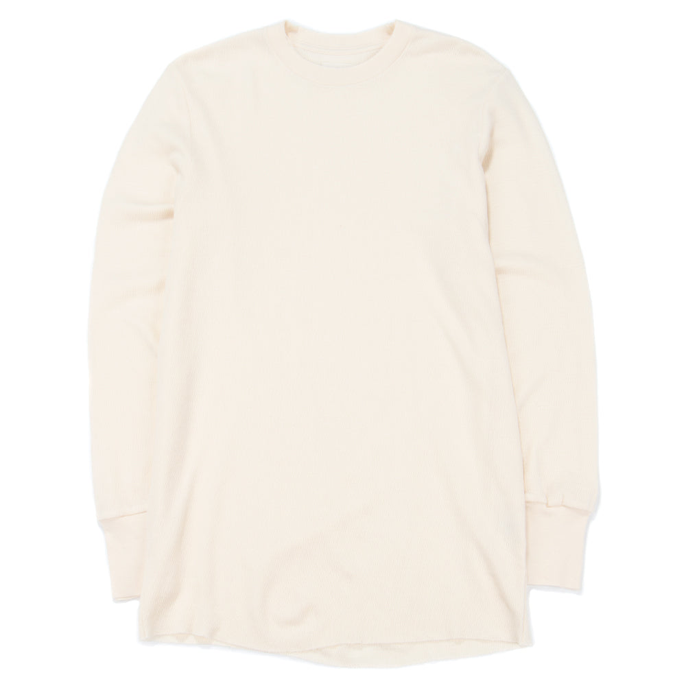 Style code FW1800772TP. Aimé Leon Dore Long Sleeve Distressed Birdseye Thermal / Cream