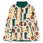 Aimé Leon Dore Blown Print Full Zip Polar Fleece Jacket / Botanical Green Combo