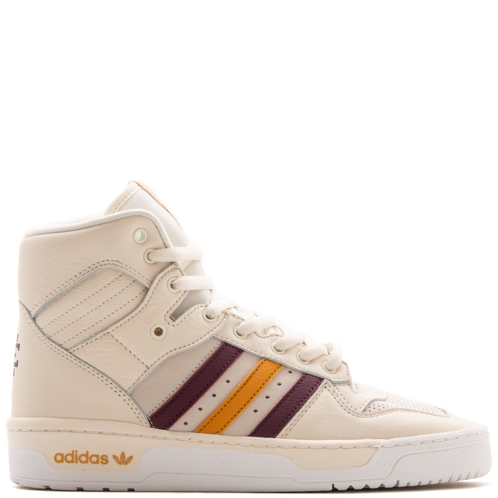 Style code G25836. adidas By Eric Emanuel Rivalry Hi Crystal White / Night Red