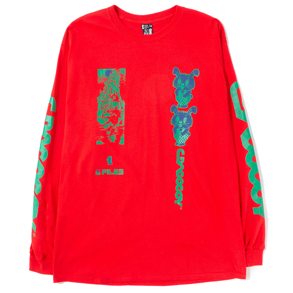 Gasius All-Over Jehovah Long Sleeve T-shirt / Red - Deadstock.ca