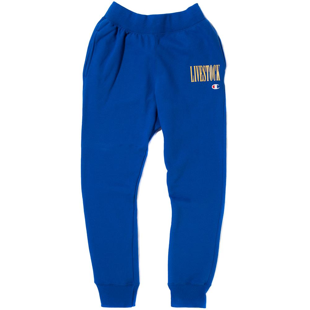 Style code GF01Y061465EC. CHAMPION LIVESTOCK REVERSE WEAVE JOGGER / SURF THE WEB