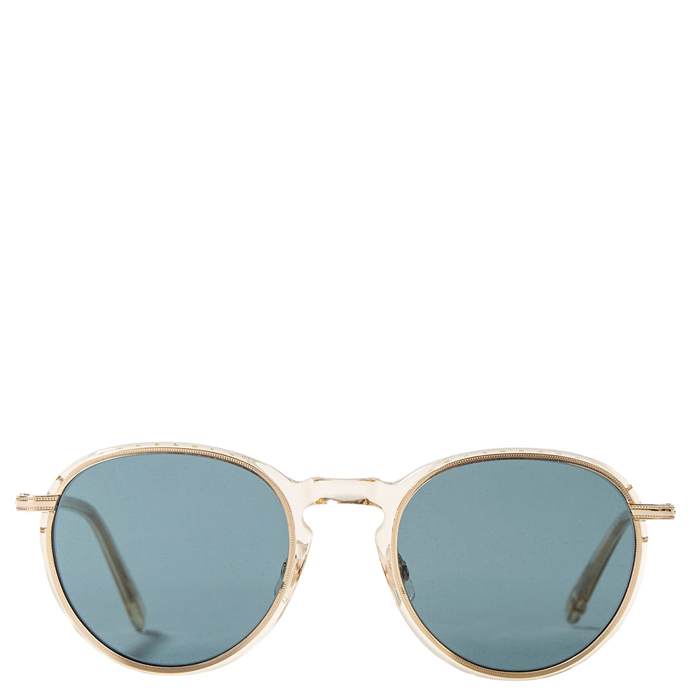 Garrett Leight Horizon Sun / Champagne Gold w/ Semi Flat Blue Smoke - Deadstock.ca