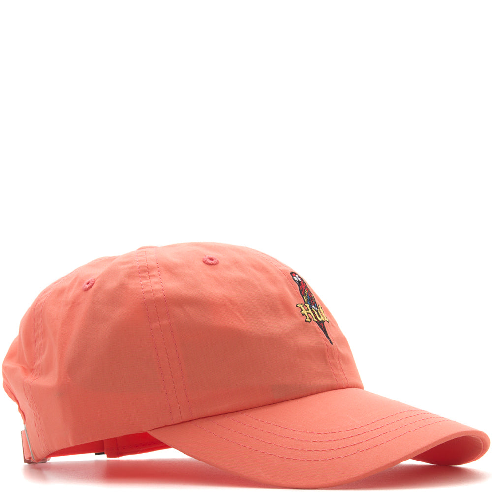 Style code HT00176SU18COR. HUF Parrot Curved Visor Hat / Coral Haze