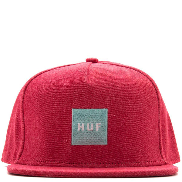 Style code HT00209SP18D2RED. HUF DENIM BOX LOGO SNAPBACK / RED