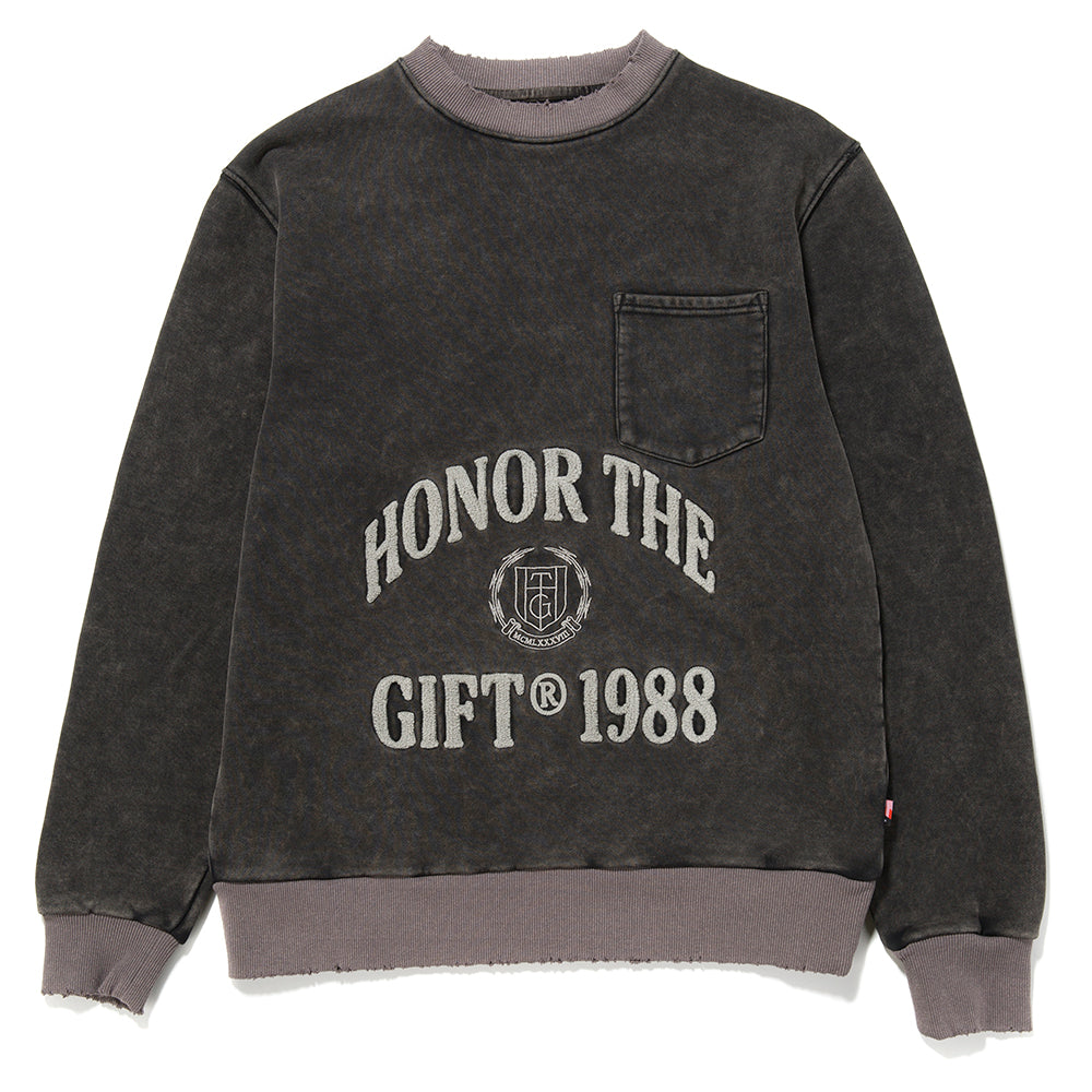 Honor The Gift 1988 Logo Crewneck / Faded Black