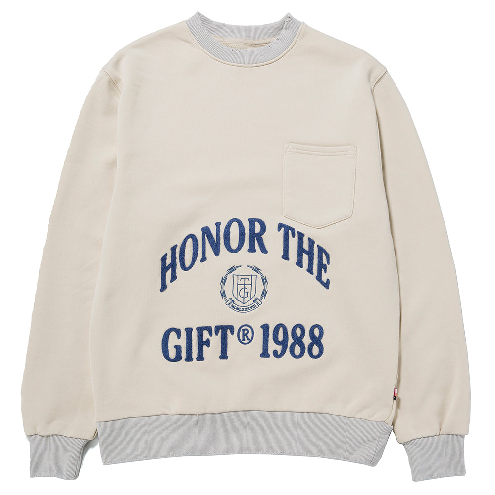 Honor The Gift 1988 Logo Crewneck / Off White