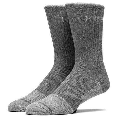 HUF APEX PERFORMANCE CREW SOCK / CHARCOAL