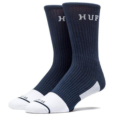 HUF APEX PERFORMANCE CREW SOCK / NAVY