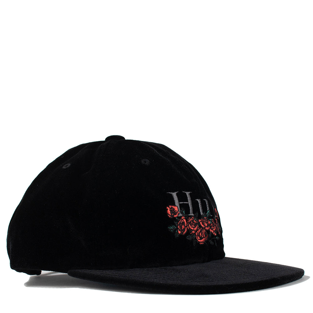 HUF Bed of Roses 6 Panel Hat / Black - Deadstock.ca