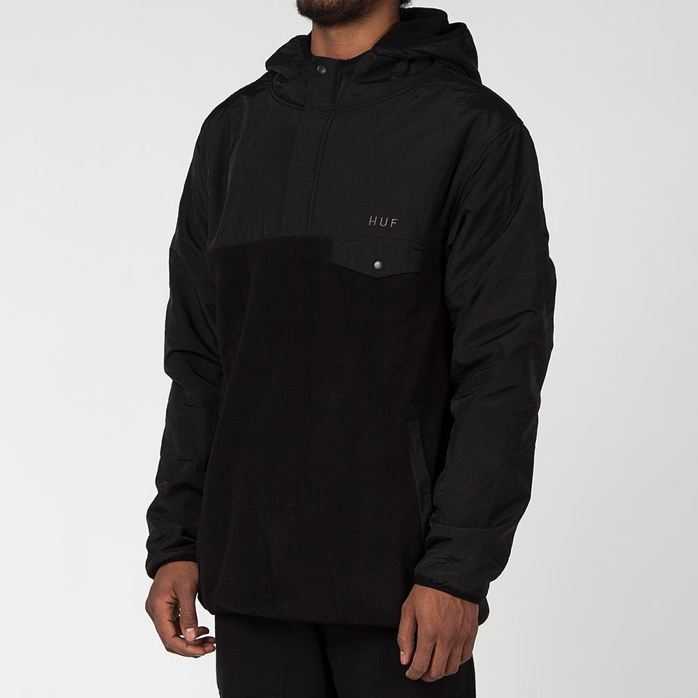 HUF MUIR PULLOVER HOODED JACKET / BLACK