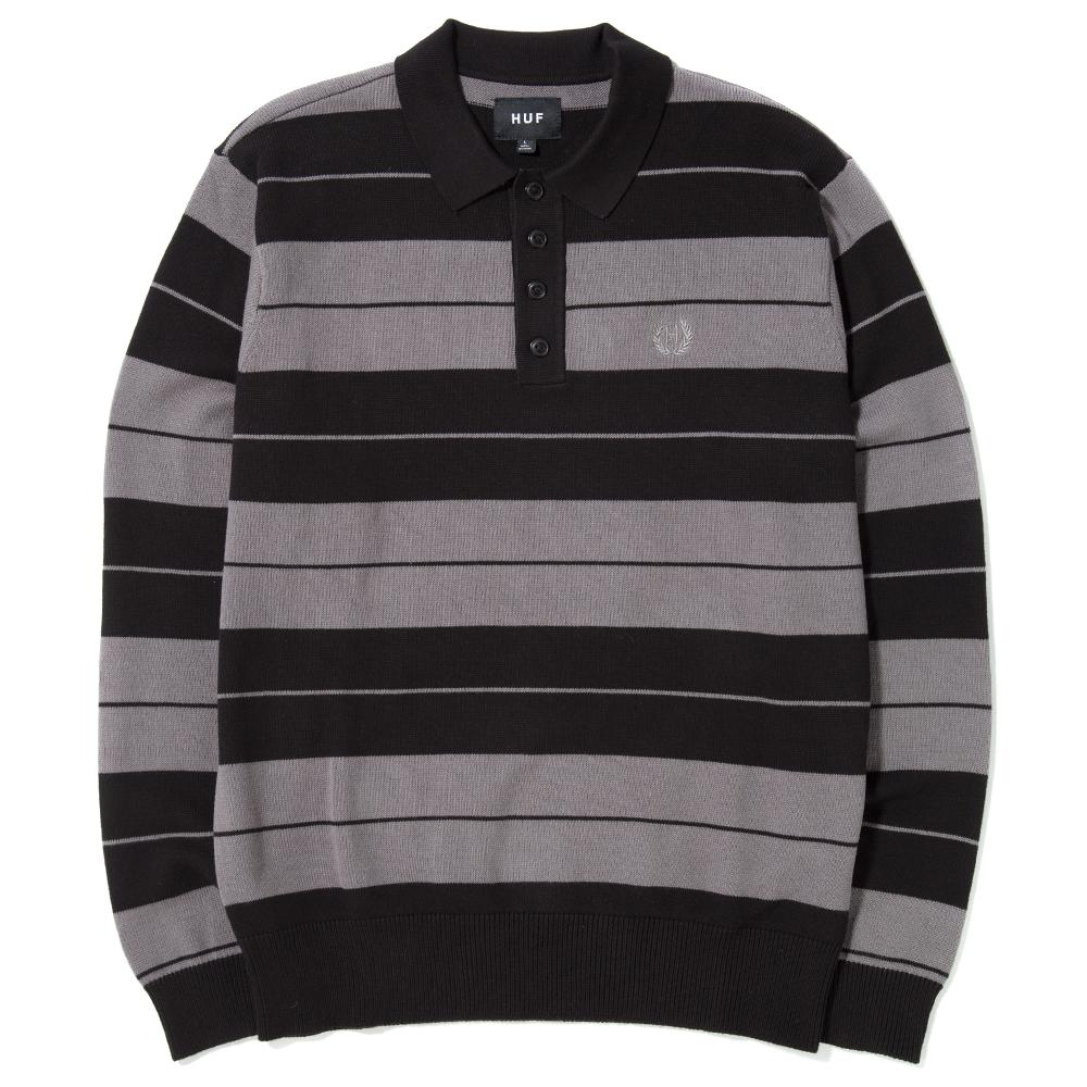 style code HUFKN00020FA17D2BLK. HUF BOYLE LONG SLEEVE RUGBY / BLACK