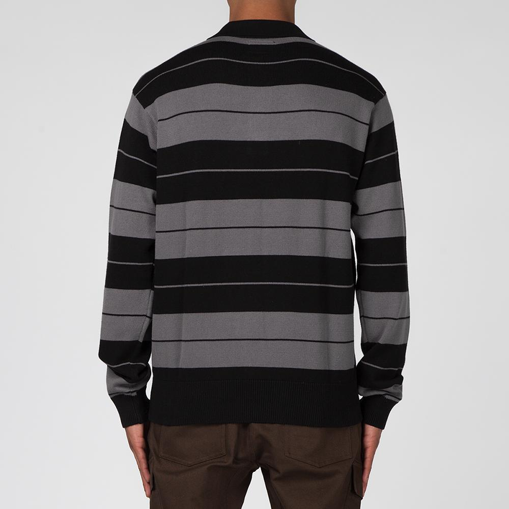 HUF BOYLE LONG SLEEVE RUGBY / BLACK