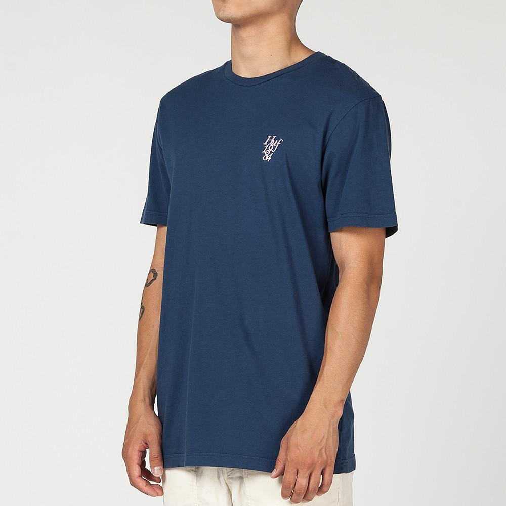HUF COUNTRY CLUB OVERDYED T-SHIRT / NAVY