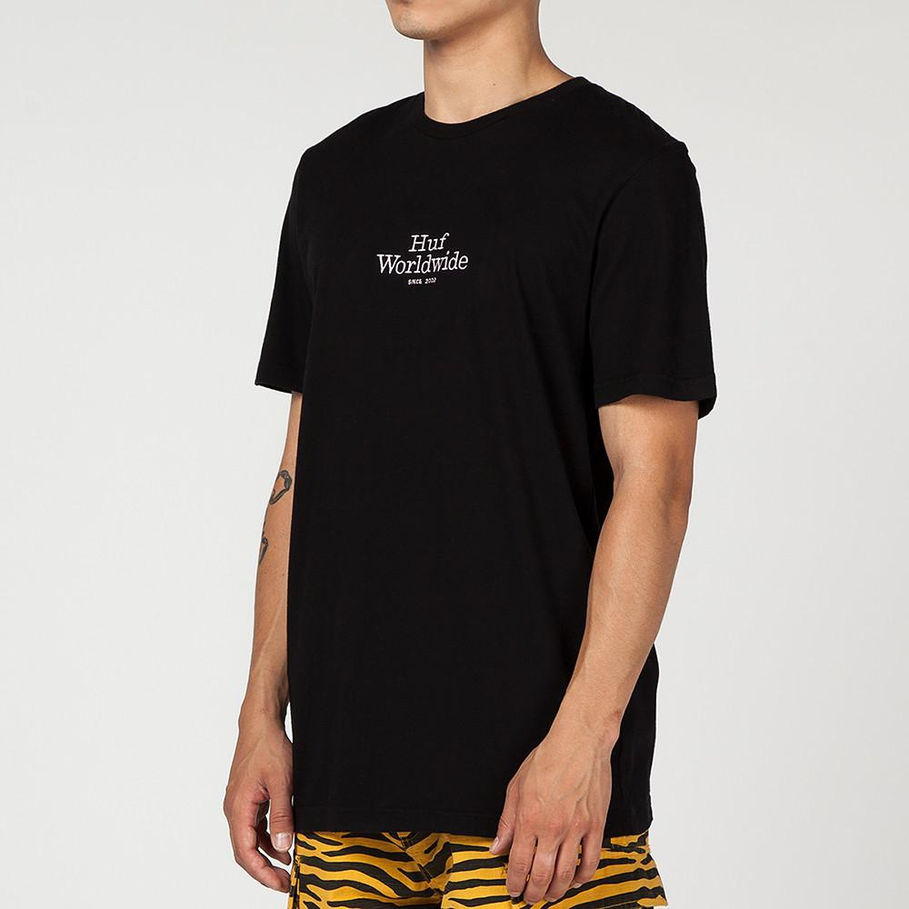 style code HUFTS00121FA17D1BLK. HUF WW OVERDYE T-SHIRT / BLACK