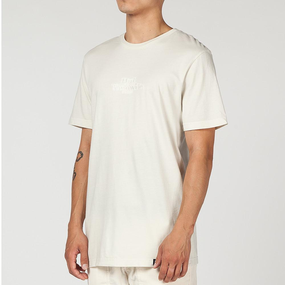 HUF WW OVERDYE T-SHIRT / OFF WHITE