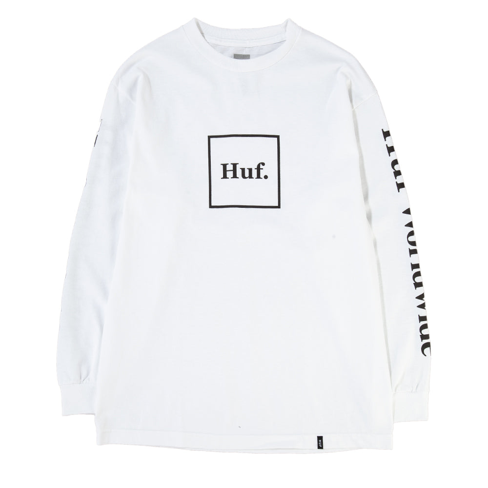 Style code HUFTS00146FA18D2WHT. HUF Domestic Box Long Sleeve T-shirt / White