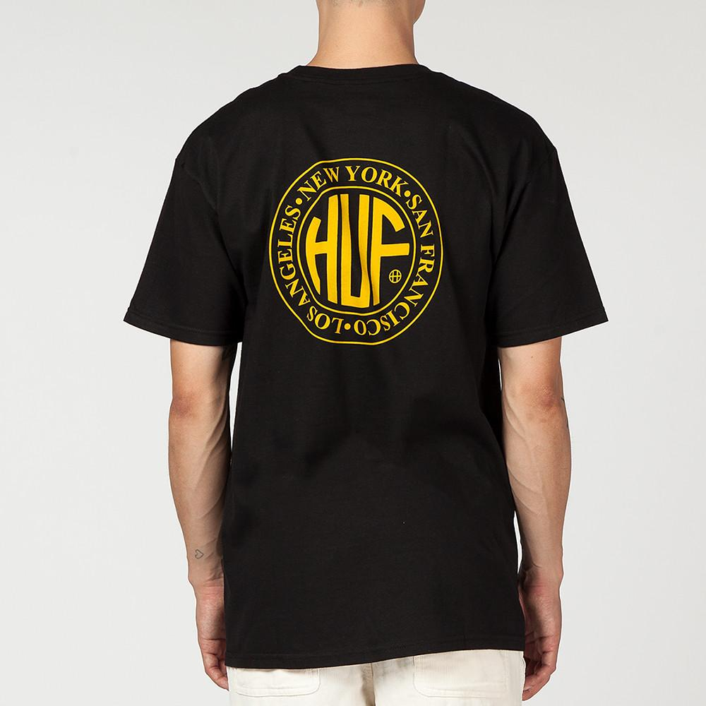 style code HUFTS00149FA17D1BLK. HUF REGIONAL T-SHIRT / BLACK